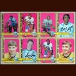 1972-73 Autographed New York Islanders Card Group of 8