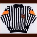 Paul Stewart NHL Referee Game Worn Jersey