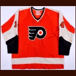 1970-71 Joe Watson Philadelphia Flyers Game Worn Jersey - Photo Match