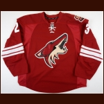 2012-13 Oliver Ekman-Larsson Phoenix Coyotes Game Worn Jersey - Photo Match – Team Letter