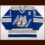 1991-92 Terry Chitaroni Sudbury Wolves Game Worn Jersey