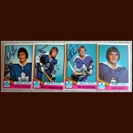 1974-75 OPC Autographed Maple Leafs group of 4