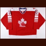 1991-92 Tony McKegney Team Canada Game Worn Jersey