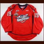 "2009-10 Zack Kassian Windsor Spitfires Game Worn Jersey – ""2010 Memorial Cup"" - Championship Season - Photo Match"