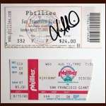 Ticket Stubs From Both No Hitters thrown at Veterans Stadium - Autographed by the Winning Pitchers