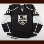 2010-11 Andrei Loktionov Los Angeles Kings Pre-Season Game Worn Jersey – Team Letter