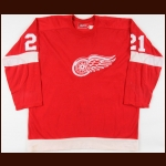 1974-75 Danny Grant Detroit Red Wings Game Worn Jersey - 50-Goal Season - Photo Match