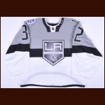 "2014-15 Jonathan Quick Los Angeles Kings Stadium Series Game Worn Jersey – ""Levi's Stadium Series"" - Photo Match – Team Letter"