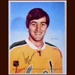 Carol Vadnais Single Signed October 8, 1971 California Golden Seals Full Program - Deceased
