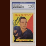 Dean Prentice 1958 Topps - New York Rangers - Autographed - PSA/DNA