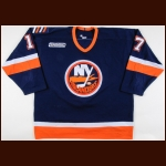 1999-00 Ted Drury New York Islanders Game Worn Jersey – Team Letter