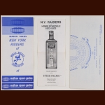 1972-73 WHA New York Raiders Introductory Ticket Plan Advertising Brochures And Schedule
