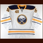 2016-17 William Carrier Buffalo Sabres Game Worn Jersey – Rookie - Photo Match – Team Letter