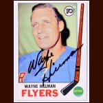1969-70 Wayne Hillman Philadelphia Flyers Autographed Card - Deceased