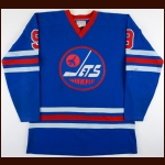 1973-74 Bobby Hull WHA Winnipeg Jets Game Worn Jersey – 2nd WHA Season – 53-Goal Season – 1st Team WHA All Star – All Star Season – Photo Match