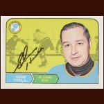 1968-69 Glenn Hall St. Louis Blues Autographed Card