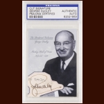 George Dudley Autographed Card - The Broderick Collection - Deceased