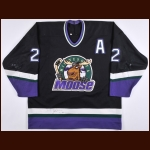 1995 Dave Hakstol Minnesota Moose Game Worn Jersey