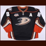 "2013-14 Teemu Selanne Anaheim Ducks Game Issued Jersey – Alternate – ""20-year Anniversary"""