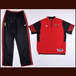 2012-13 Derrick Rose Chicago Bulls Shooting Shirt and Warm-Up Pants – Team Letter