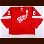 1990-91 Joe Kocur Detroit Red Wings Game Worn Jersey