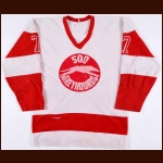 Circa Late 1970's Sault Ste. Marie Greyhounds Game Worn Jersey – Player #7