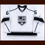 2013-14 Jake Muzzin Los Angeles Kings Game Worn Jersey - Stanley Cup Season - Photo Match – Team Letter
