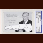 Bill Wirtz Autographed Card - The Broderick Collection - Deceased