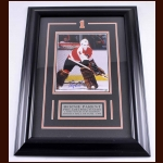 Bernie Parent Philadelphia Flyers Autographed Photo – Matted and Framed