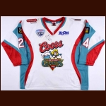 2007-08 Carlyle Lewis Belfast Giants Game Worn Jersey