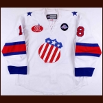 "2010-11 Jeff LoVecchio Rochester Americans Game Worn Jersey – ""75-year AHL Anniversary"""
