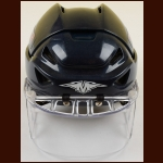 Petr Sykora New York Rangers Navy Mission Game Worn Helmet – Itech Faceshield - Team Letter
