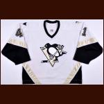 2006-07 Jocelyn Thibault Pittsburgh Penguins Game Worn Jersey - Photo Match – Team Letter