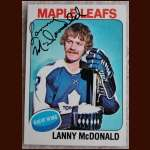 1975-76 OPC Lanny McDonald  Toronto Maple Leafs - Autographed