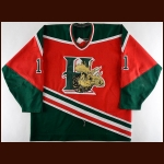 1994-95 Derrick Pyke Halifax Mooseheads Game Worn Jersey – Rookie - Inaugural Season