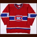 1978-79 Jacques Lemaire Montreal Canadiens Stanley Cup Finals Game Worn Jersey - Last Road Jersey - Photo Match