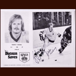 Juha Widing Kings Autographed 8x10 B&W Photo - Double Signed - Deceased