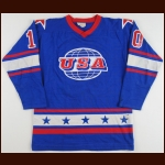 1978 Mark Johnson Team USA World Championships Game Worn Jersey - First Int'l Tournament - 1980 Miracle On Ice Alum