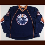 2007-08 Matt Greene Edmonton Oilers Game Worn Jersey - Photo Match – Team Letter