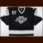 "1991-92 Mike Vukonich Los Angeles Kings Pre-Season Game Worn Jersey – ""25-year Anniversary"""