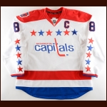 "2014-15 Alex Ovechkin Washington Capitals Game Worn Jersey – Alternate - ""40-year Anniversary"" - 1st Team NHL All Star - Maurice ""Rocket"" Richard Trophy - 53-Goal Season – Photo Match – Team Letter"