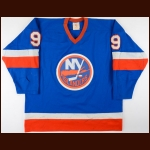 1981-82 Clark Gillies New York Islanders Game Worn Jersey - Stanley Cup Season - Career Best 38-Goal Season - Possible Gillies-Hospodar Fight - Photo Match - Clark Gillies Letter