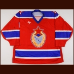 Late 1990's Konstantin Bezorodov UCKA Central Red Army Game Worn Jersey
