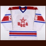 1991-92 Andrei Kovalenko UCKA Central Red Army Game Issued Jersey