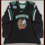 "2006-07 Chris VandeVelde University of North Dakota Game Worn Jersey – ""2007 St. Louis Frozen Four"" - Photo Match – Team Letter"