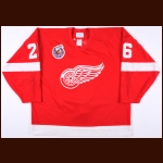 1992-93 Ray Sheppard Detroit Red Wings Game Worn Jersey