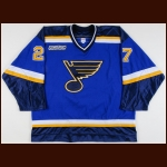 1999-00 Terry Yake St. Louis Blues Game Worn Jersey