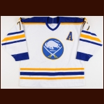 1990-91 Pierre Turgeon Buffalo Sabres Game Worn Jersey - Photo Match