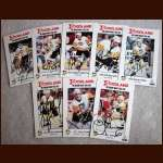 1990 Pittsburgh Penguins Foodland Safety Set Autographed group of 8