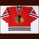 1998-99 J.P. Dumont Chicago Blackhawks Game Worn Jersey – Rookie